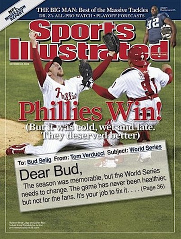 Phillies World Series Sports Illustrated Cover