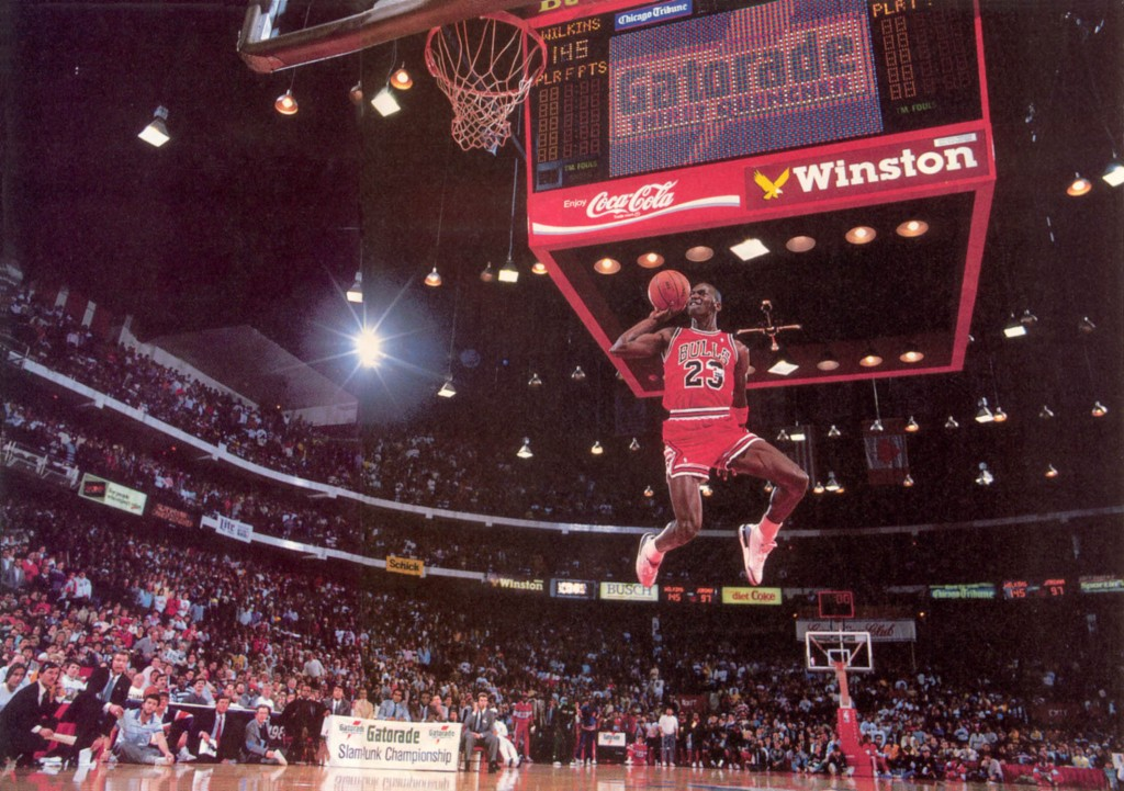 MJ Dunk Free Throw Line