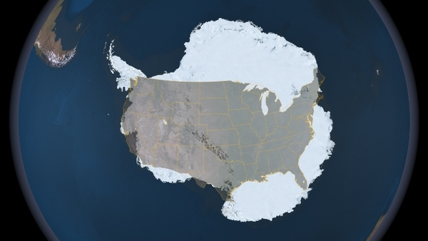 Antarctica is Huge